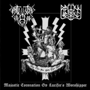 Reficul Esruc / Goatlusting Chaos - Majestic Coronation Ov Lucifer's Worshippers cover art