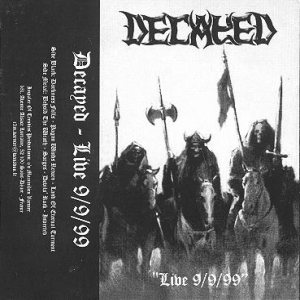 Decayed - Live 9/9/99 cover art