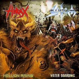 Sodom / Hirax - Hellion Rising / Water Boarding cover art