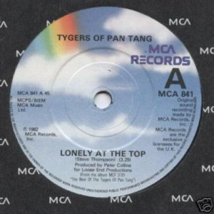 Tygers Of Pan Tang - Lonely at the Top cover art