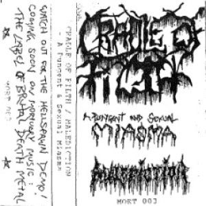 Cradle of Filth / Malediction - A Pungent and Sexual Miasma cover art