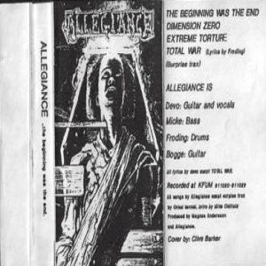 Allegiance - The Beginning Was the End cover art