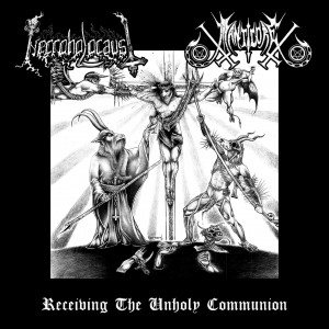Manticore / Necroholocaust - Receiving the Unholy Communion cover art