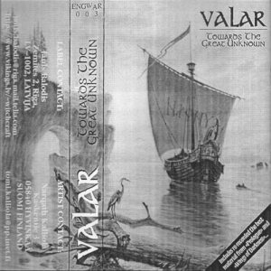 Valar - Towards the Great Unknown cover art