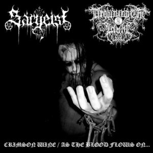 Sargeist / Drowning the Light - Crimson Wine / As the Blood Flows On... cover art