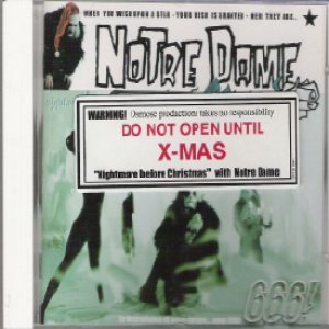 Notre Dame - Nightmare before christmas cover art