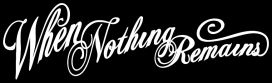 When Nothing Remains logo