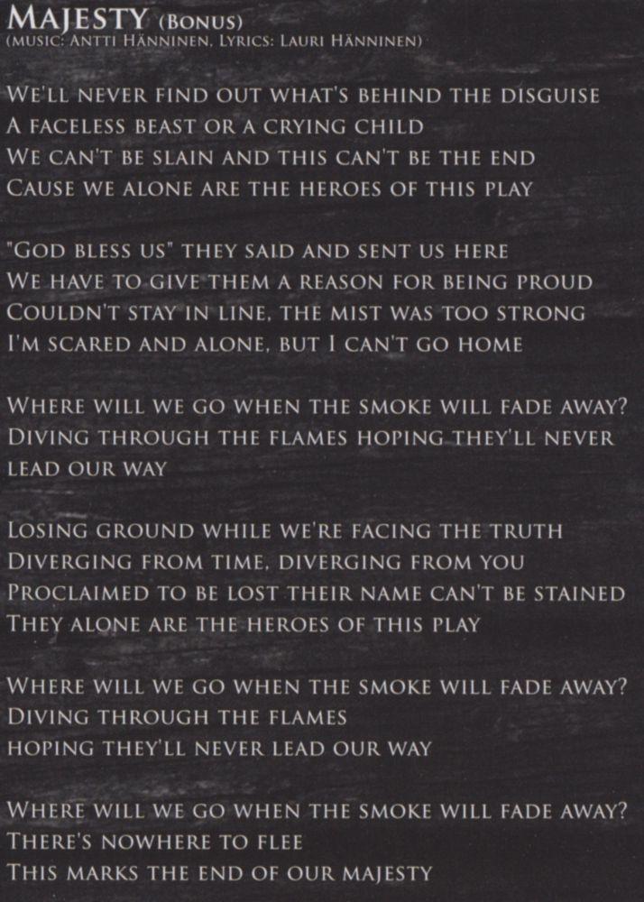 Lyric lyrics to majesty : Majesty lyrics - Cardiant Photo - Metal Kingdom