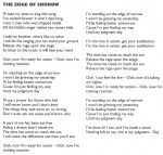 The Edge Of Sorrow lyrics